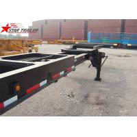 Wholesale 8 Tires Black Color 20 Ft Skeletal Trailers Goosneck Container Semi Trailer from china suppliers
