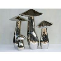 Wholesale Home Art Decoration Mushroom Garden Sculptures Stainless Steel Anti Corrosion from china suppliers