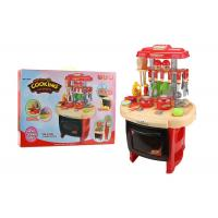 Buy cheap Red Color Pretend Play Childrens Toy Kitchen Sets With Sound And Light 62CM from wholesalers