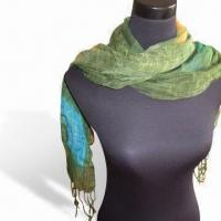 Wholesale Scarf, Made of 45% Viscose and 55% Acrylic, Various Designs/Colors are Available from china suppliers