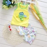 Wholesale cartoon print fashion design boys summer sets beach clothing sets from china suppliers