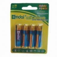 Buy cheap Alkaline Batteries with MO2 Chemistry and 2,500mAh Capacity, RoHS Directive-compliant from wholesalers