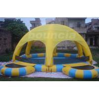 Buy cheap Outdoor Inflatable Water Pool With Tent Cover And Platform For Party from wholesalers
