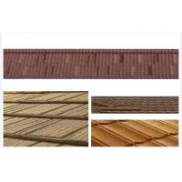 Buy cheap Roman / Grid Stone Chip Coated Steel Roof Tiles / Wood Grain roofing shingle from wholesalers