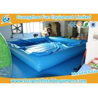 China 0.9MM PVC Inflatable Swimming Pool Air Tight Water Pool With Cover on sale