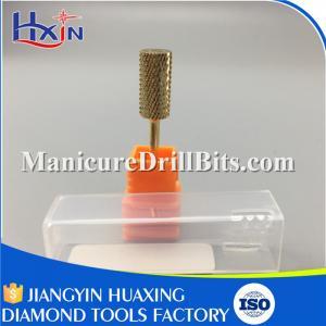Head Length 13mm Carbide Nail Drill Bits Gold / Sliver Head Diameter 5mm