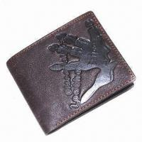 Wholesale Fashionable Men's Leather Wallet, Made of PU, OEM and ODM are welcome from china suppliers