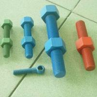 Buy cheap Green, Blue, Red Cadmium Plated / Xylan Fluoroploymer Coated Stud Bolts and Nuts from wholesalers