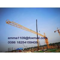 Buy cheap Fixed Out Climbing Types Of Tower Cranes Model QTZ6012 60m Jib and 8T Load from wholesalers