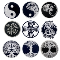 Buy cheap Self Adhesive 3D 60mm Tree Of Life Patch Custom Embroidered Logo Patches from wholesalers