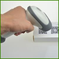 Buy cheap HS02 2017 new Cheapest Wireless bluetooth handheld barcode scanner 1D and 2D code reader made in China from wholesalers