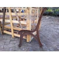 Buy cheap Long Outdoor Wooden Cast Iron Bench Seat Ends For Street Furniture from wholesalers