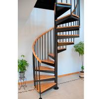 Wholesale Save space spiral wood steel stair from china suppliers