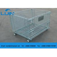 Wholesale Workshop Metal Shelf Wire Mesh Storage Cages  Easy To Inventory from china suppliers