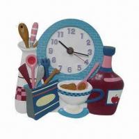 Buy cheap Polyresin Clock Crafts, Ideal Promotional and Gifts Purpose and Collection, OEM Orders Welcomed from wholesalers