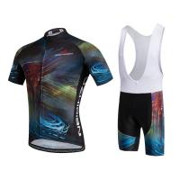 Buy cheap Short Sleeve Youth Cycling Jersey , Personalised Cycling Shirts 140-230gsm Fabric from wholesalers