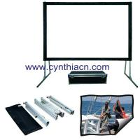 Buy cheap Cynthia HD Fabric Fast fold Projector Screens Front And Rear Projection Portable Screen from wholesalers