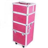 Wholesale Cosmetic Trolley Case / Trolley Makeup Box Red Stone Pattern Box With Code Lock from china suppliers