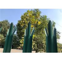 Buy cheap Powder Coated Green Palisade Fencing , Metal Picket Fence Panels For Home from wholesalers