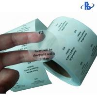 Buy cheap Round Seal Matte Transparent Destructible Vinyl Label Stickers Single Sided Adhesive from wholesalers