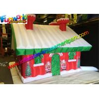 Wholesale Custom Oxford Inflatable Christmas Decorations Santa Claus House from china suppliers