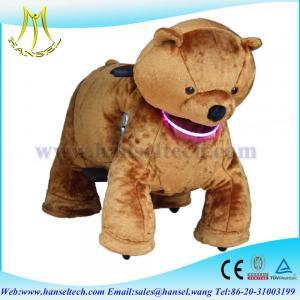 Hansel happy animals ride plush animals motorized stuffed animals with wheels Manufactures