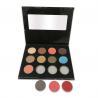 Buy cheap Wholesale Custom DIY Eyeshadow 12 Colors OEM Logo Eye Shadow Palette Black Package from wholesalers