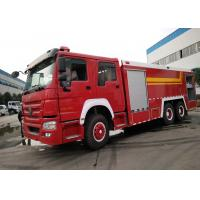 Buy cheap Howo 6 X 4 10 Wheel Large Fire Truck , Fire Service Truck For Factory from wholesalers