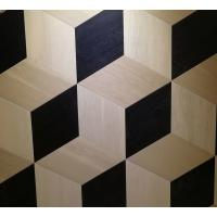Wholesale oak parquet tiles, artistic parquets, black & white stained, 3D showing from china suppliers