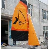Easy Take Inflatable Sailing Boat Orange Sailing Cat With Fiberglass Rudder Manufactures