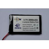 Buy cheap Polymer Lithium-ion battery Pack 3.7V 2000mAh (1.5C, 7.4Wh, 3A rate) from wholesalers