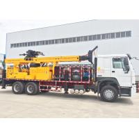 Buy cheap Rotary Mobile Borehole Drilling Machine , Truck Mounted Water Well Drilling Equipment from wholesalers