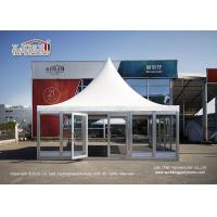 Buy cheap 6X6M Gazebo Canopy Tent With Glass Wall And Flooring For VIP Room from wholesalers