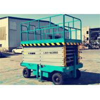 Buy cheap 8m Height Small Mobile Scissor Lift Platform 500Kg With Good Stability from wholesalers