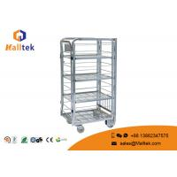 Buy cheap Industrial Supermarket Heavy Duty Trolley Hand Roll Container With Four Wheel from wholesalers
