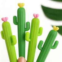 Buy cheap hot selling cute cactus shape ballpoint pens silicone  pen ink pen for promotion from wholesalers