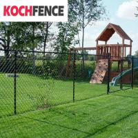 Buy cheap Green Vinyl Coated Chain Link Security Fence Excellent Rust Resistance from wholesalers