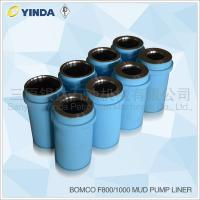 Bomco F800 Triplex Mud Pump Liner, API-7K Certified Factory, Chromium content 26-28%, HRC hardness greater than 60