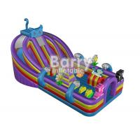 Buy cheap Custom Made Blue Cat Inflatable Toddler Playground / Kids Playground Equipment With Colorful Jumping Bounce House from wholesalers