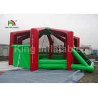 Buy cheap Customized Rent Red Indoor Inflatable Football Arena For Adults Anti - Crack / Anti - Skid from wholesalers