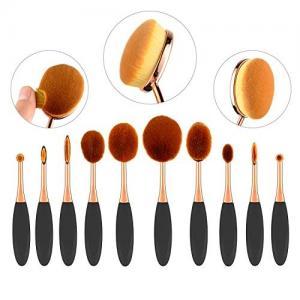 China 10 Piece Fiber Full Makeup Brush Set , Soft Toothbrush Foundation Brush on sale