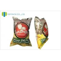 Buy cheap Back Sealed Printed Laminated Pouches Inflatable Packaging Potato Chips , Customized Size & Design from wholesalers