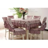 Buy cheap Wrinkle free polyester fibre tablecloth and chair cover, wrinkle free table linens, from wholesalers