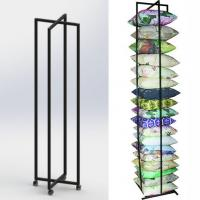 Buy cheap Square Cushion Folded Metal Floor Display Stands with 4 caster from wholesalers