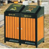 Buy cheap Powder Coated Outdoor Site Amenities / Commercial Trash Cans With Double Drums from wholesalers
