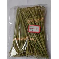 Wholesale 18cm Natural Bamboo Picks Skewers BBQ Knotted Bamboo Appetizer Snack Skewers Party Accessories from china suppliers