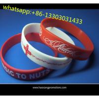 Buy cheap Christmas gift custom silicone wristband / bracelet / rubber band for kids from wholesalers