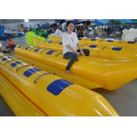 Buy cheap Customized Triple Welding Inflatable Water Toys / Blow Up Double Banana Boat from wholesalers