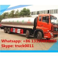 Buy cheap hot sale 25,000L fresh milk tank truck,Dongfeng tianlong 8*4 25m3 stainless steel milk tank delivery truck for sale from wholesalers