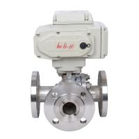 Buy cheap High Pressure Electric Actuated Ball Valve 3 Way Flanged For Water / Oil from wholesalers